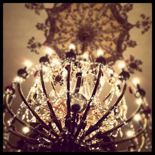 the palmer house has my favorite chandeliers.   #melissamartens ~ Iphoneography