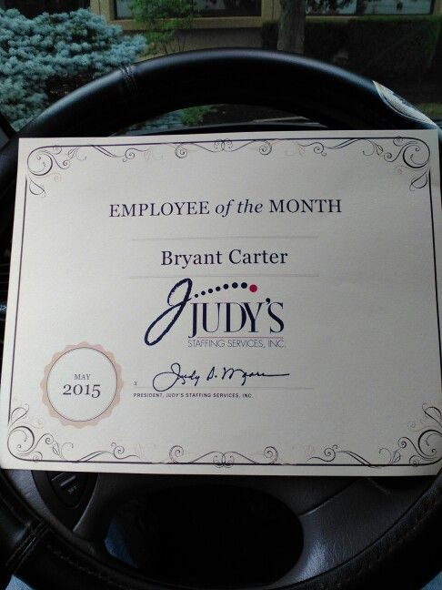 Can't complain about being employee of the month.