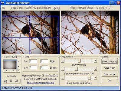 تحميل برنامج ازالة الظل او التعتيم من الصور المجاني Vignetting Reducer 1 8