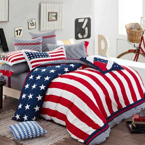 Patriotic Bedding Sets Celebrate July 4th Even When You Go To