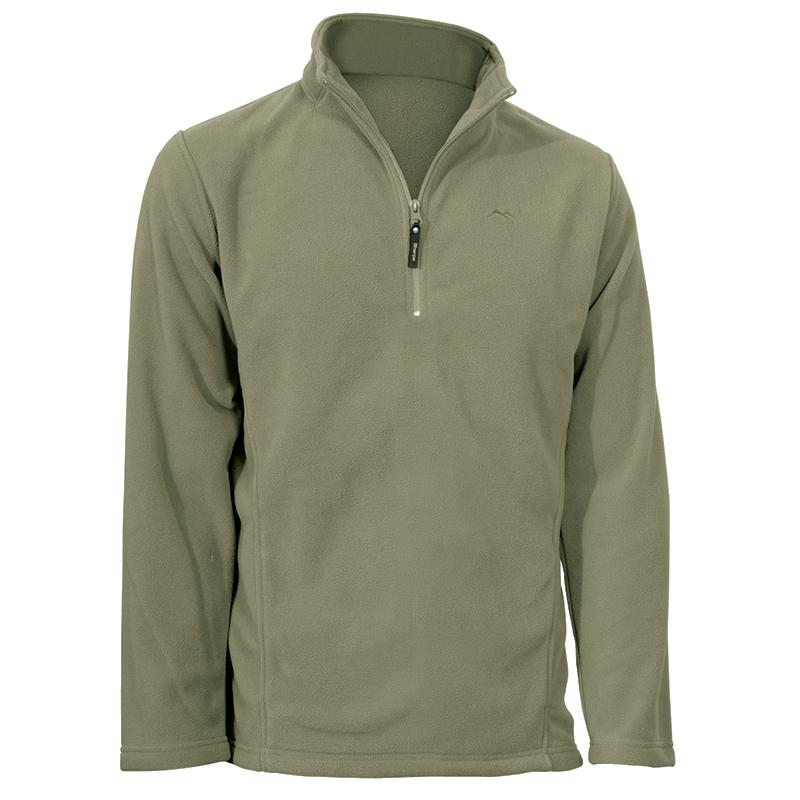 Men's Norbu 1/4 Zip Lightweight Fleece: Tan S-3XL