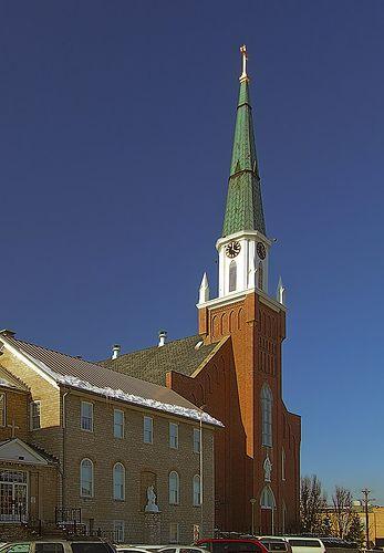 Sainte Genevieve Roman Catholic Church, in Sainte Genevieve, Missouri, USA - exterior
