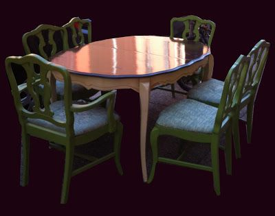 Spring Look! Table with 6 Chairs $175 http://uhurufurniturephilly.blogspot.com/2013/04/table-with-6-chairs.html