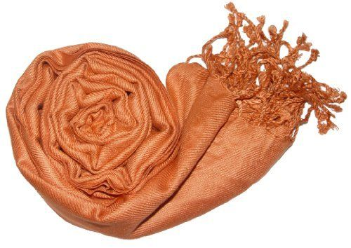 """Soft and Silky Beautiful Pashmina Style Viscose Rust Shawl/ Wrap 28"""" X 78"""" Peach Couture. $9.95. Save 67% Off!"""