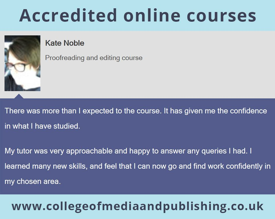 Kate Noble proofreading and editing course Online