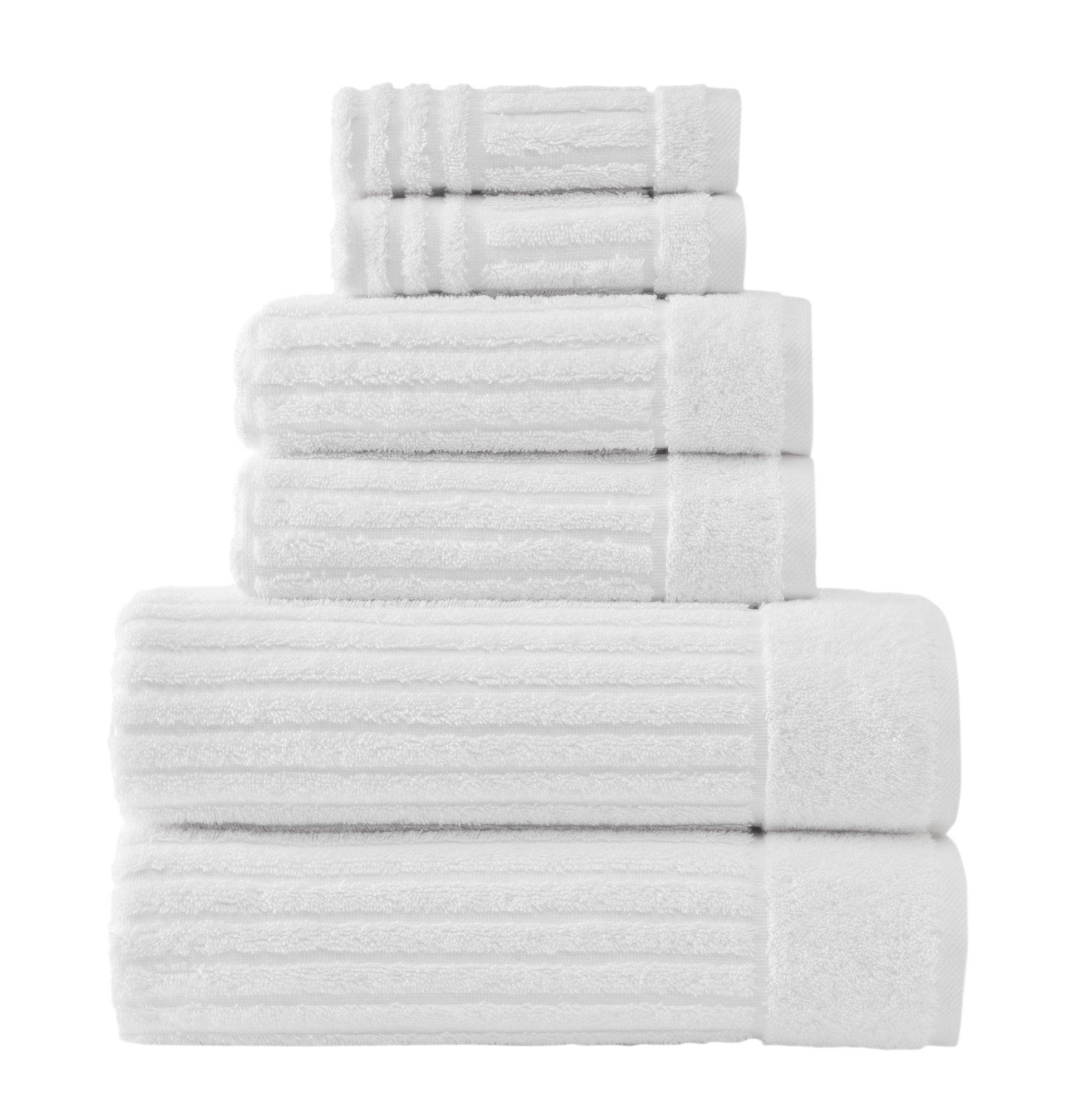 Shimmer Turkish 6 Piece Towel Set Turkish Cotton Towels Towel