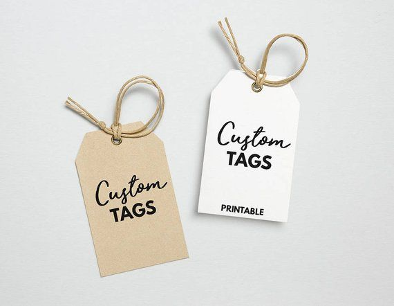 Custom Hang Tag Printable Template, Custom Clothing Tag