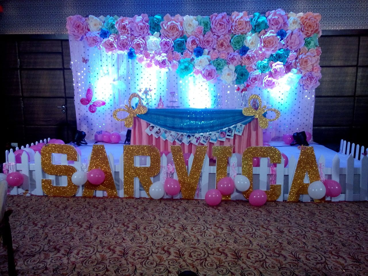 Pin By Hiranya Paper Flowers And Pape On Stage Decoration With Our