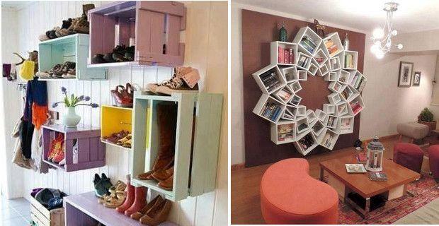 Ideas originales y f ciles de hacer con cajas de madera for Decoracion reciclaje interiores