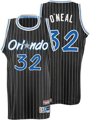 Shaquille O Neal Jersey  adidas Black Throwback Swingman  32 Orlando Magic  Jersey 904772735