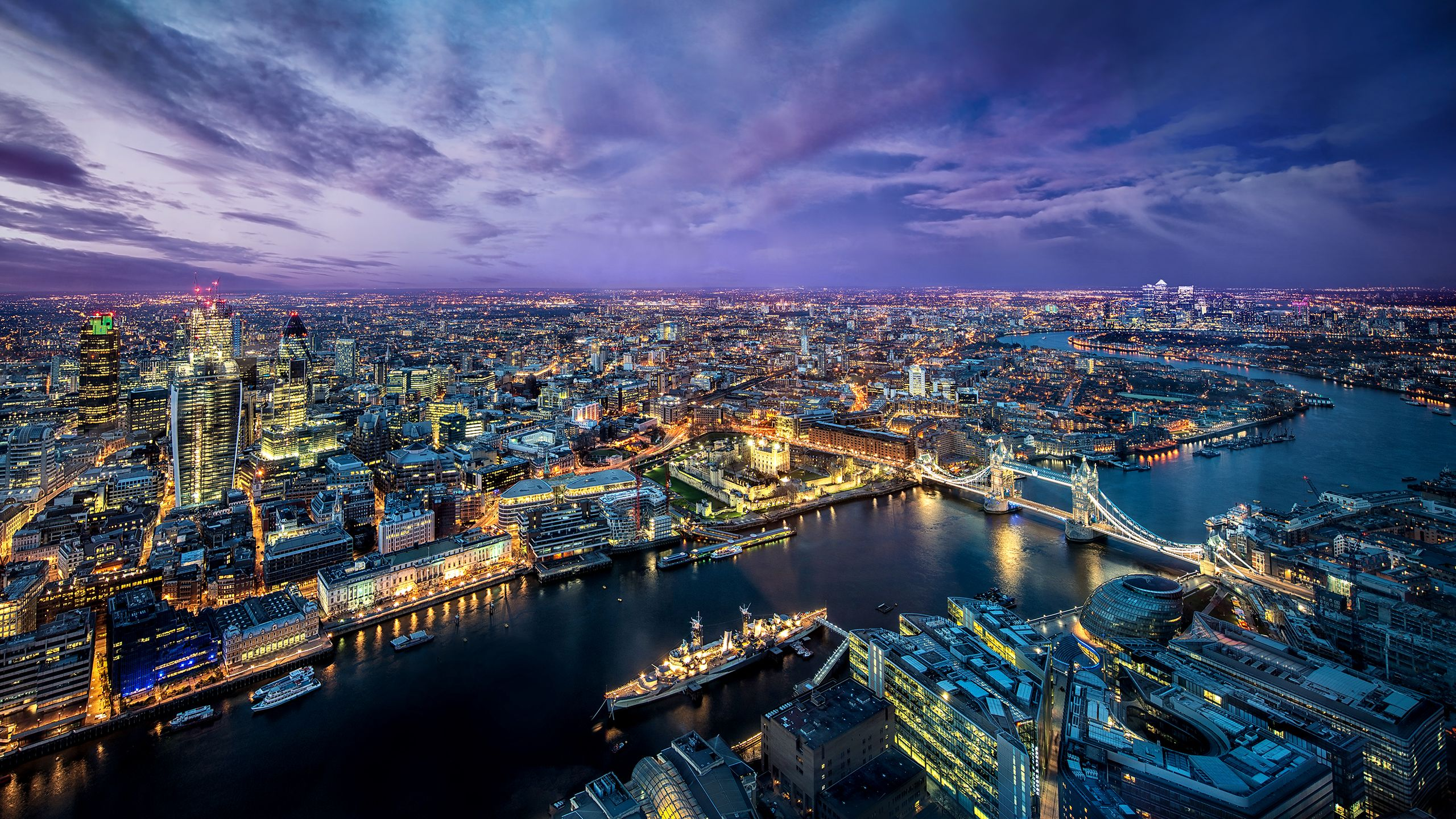 high resolution desktop wallpaper london from the shard by dominic kamp