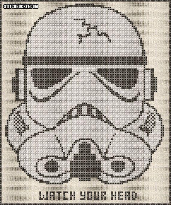 Stormtrooper Cross Stitch Pattern on Etsy, $4.31 CAD   La guerra de ...