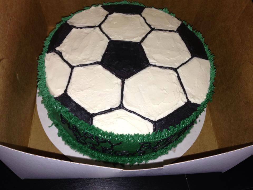 Soccer Theme Birthday Cake Buttercream Party Cakes Cake Soccer Cake