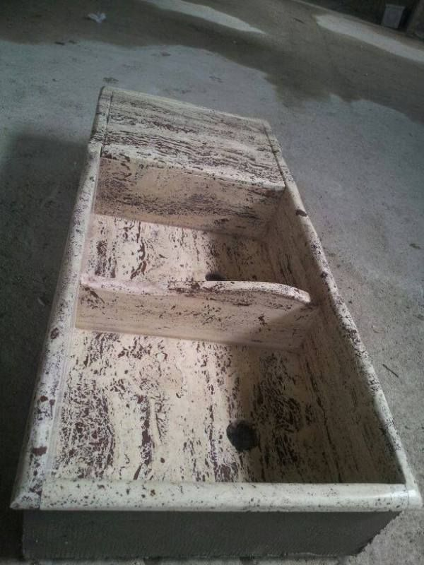 lavandino lavello lavabo cucina in pietra travertino 2 ...