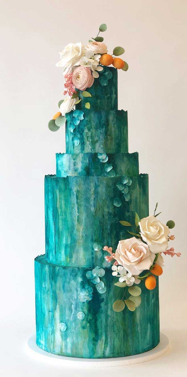 The 50 Most Beautiful Wedding Cakes – Green wedding cake