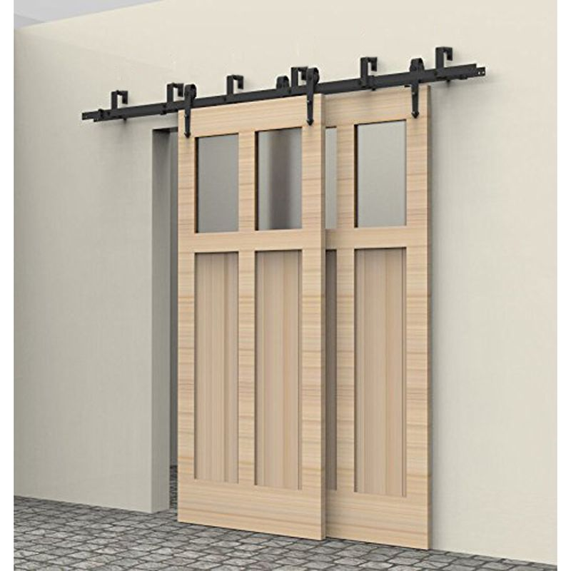 5 10ft Rustic Interior Doors Bypass Sliding Barn Wood Door Hardware Steel Arrow Country Style Black Barn Door Hardware Set Kit Bypass Barn Door Barn Door Hardware Sliding Barn Door Hardware