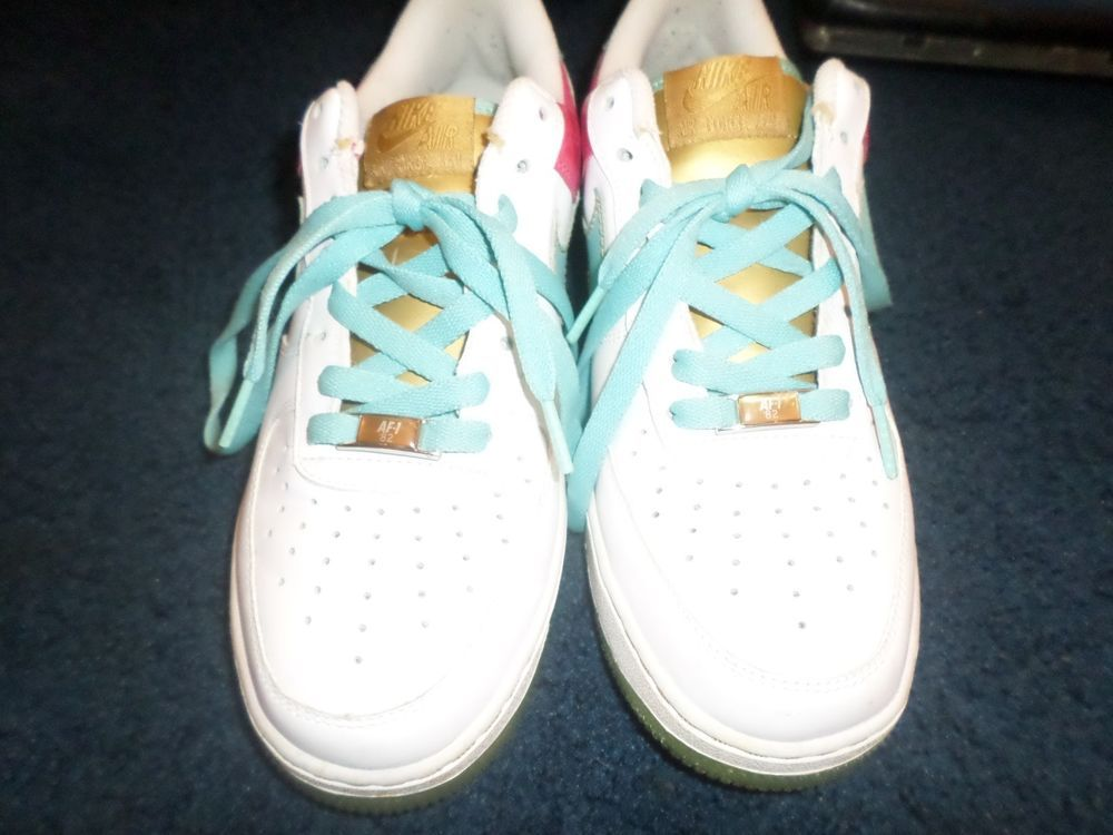 caa153338c63 2007 Nike Air Force 1  07 (white paradise aqua cerise metallic gold ) Sz8   fashion  clothing  shoes  accessories  mensshoes  athleticshoes (ebay link)