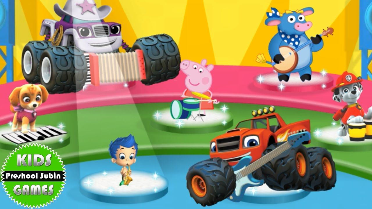 paw patrol blaze and the monster machines bubble guppies pegge