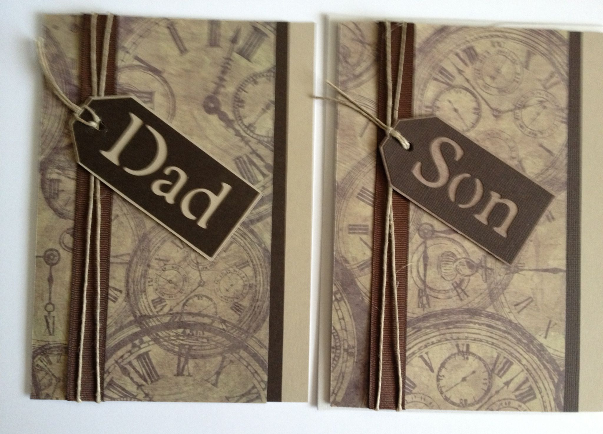 Father and son Father's Day cards