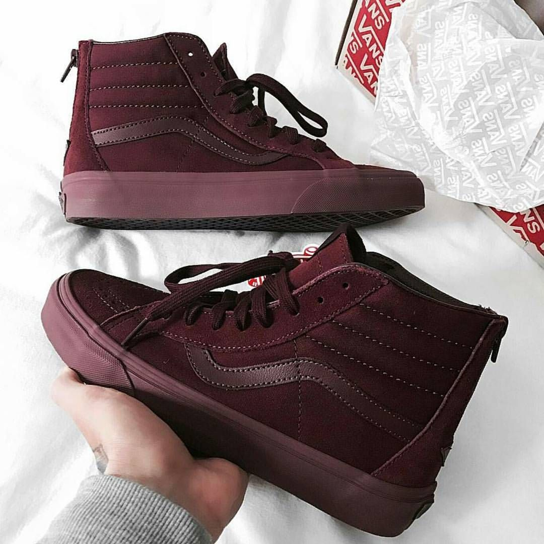 5c098b452944 Burgandy Vibes  Vans  Red