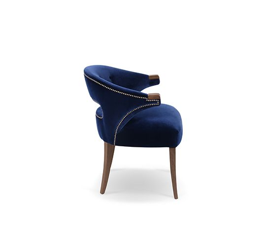 Modern NANOOK Dining Room Chair Mid Century Modern Design by BRABBU brings the strength of a myth Plan - Inspirational modern blue chair For Your Home