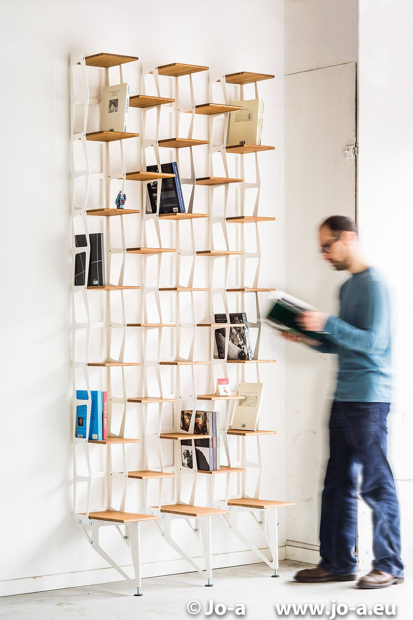 C Li Modular Bookshelf White Design Shelving System By Jo A  # Bibliotheque Design Blanc