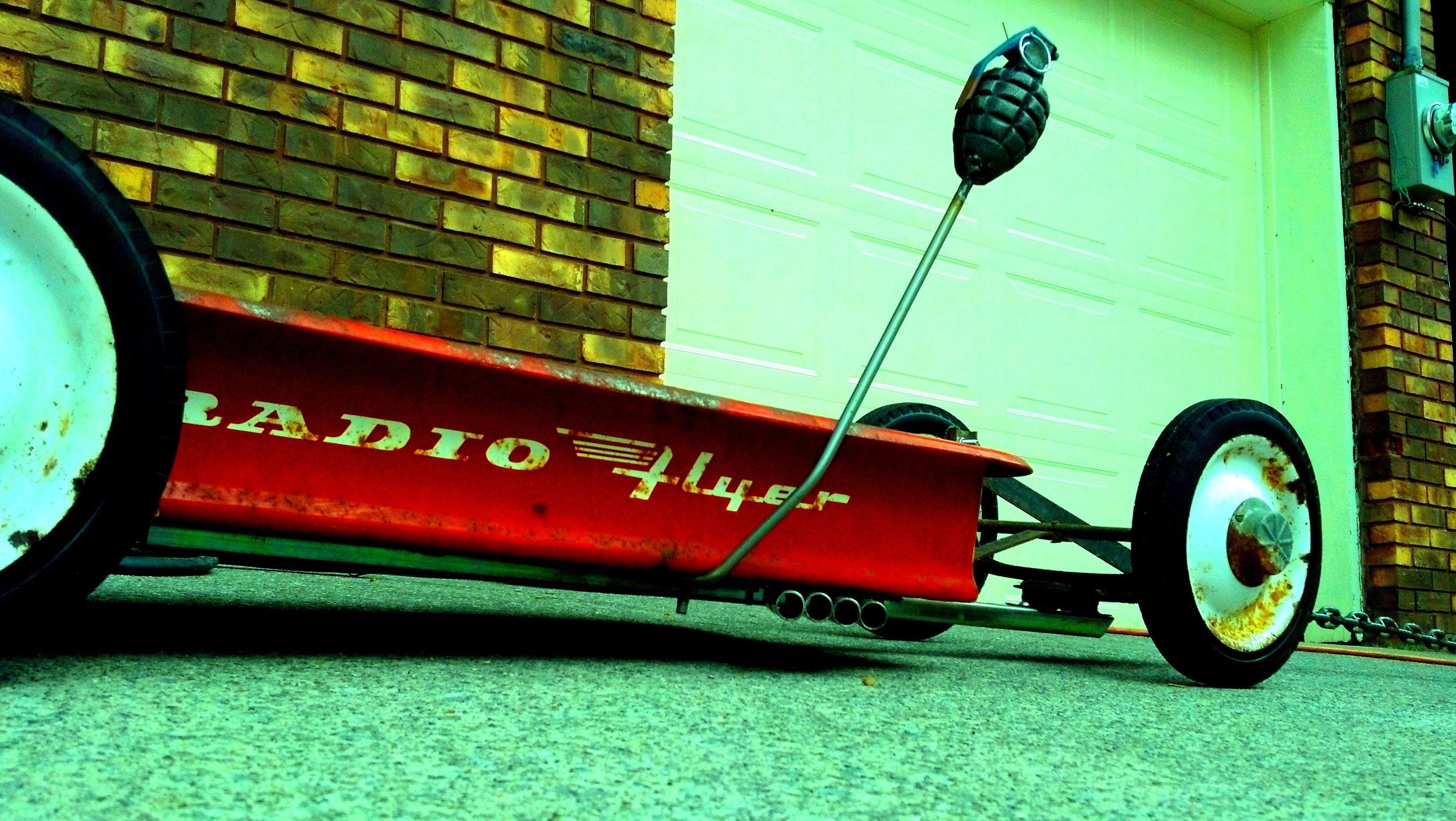 SIDE MUFFLER SIDE PIPE SET CUSTOM MAKE FOR RADIO FLYER WAGON