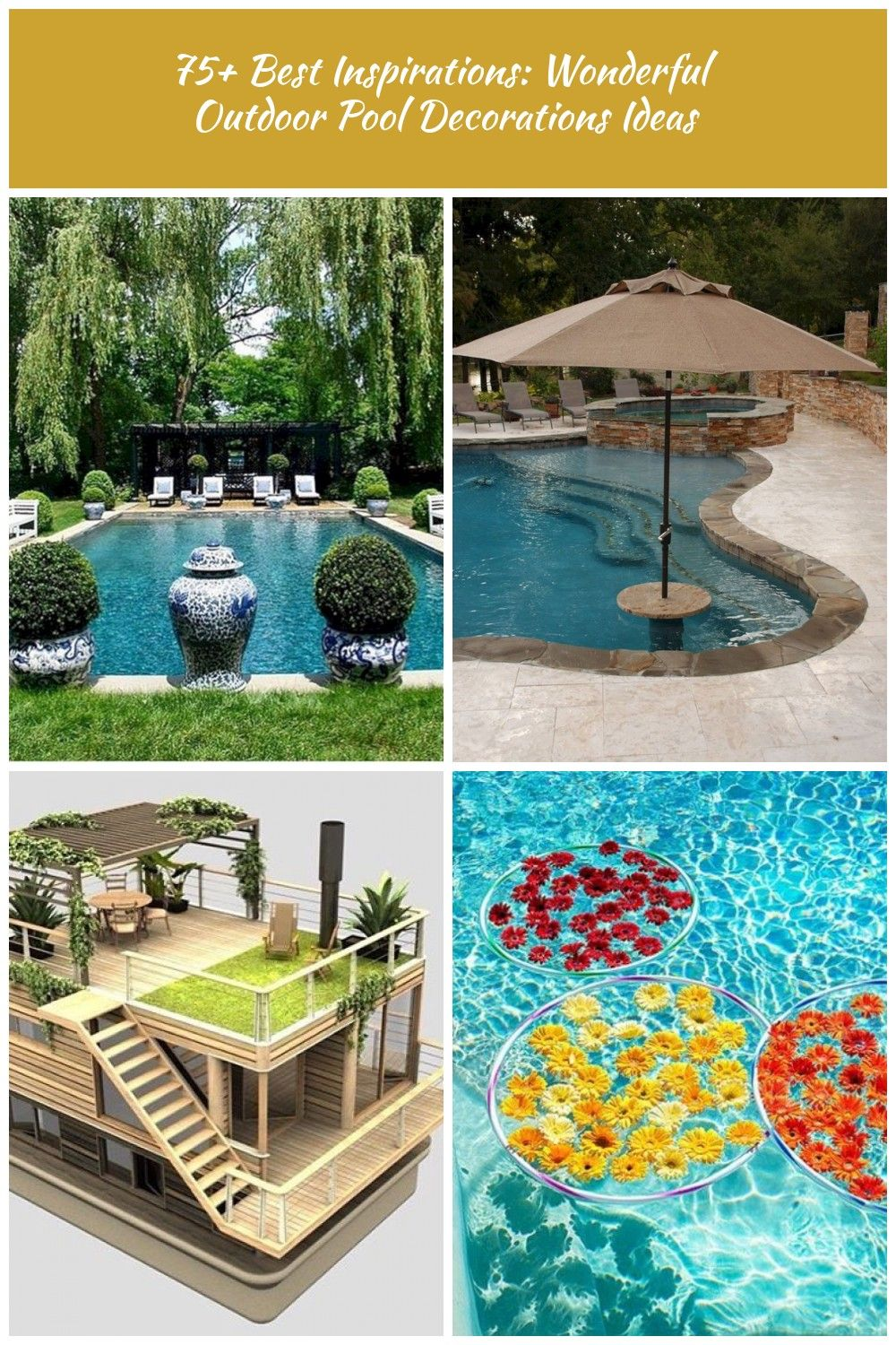 Pool Decorations 75 Best Inspirations Wonderful Outdoor Pool