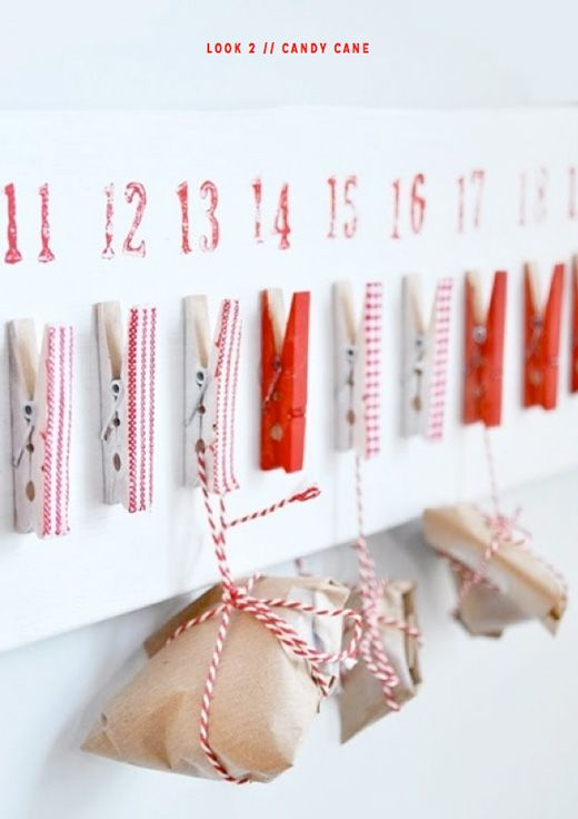 DIY peg advent calendar - would be cute to put a good deed to do each day as well
