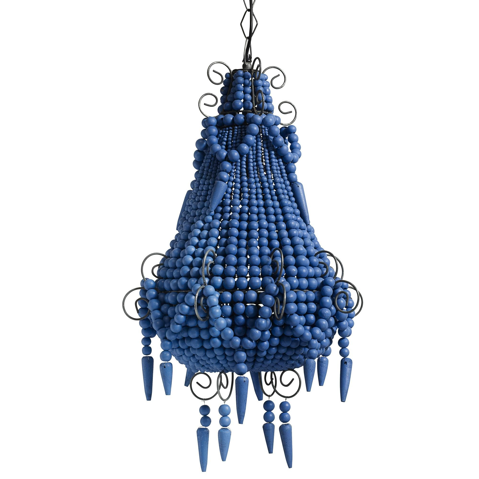 Beaded Chandelier in Royal Blue