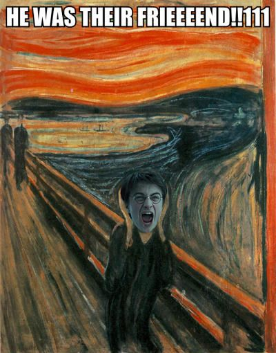 25 HILARIOUS Harry Potter Comics!   SMOSH. This particular van Gogh painting (minus Dan's face) always gives me the creeps