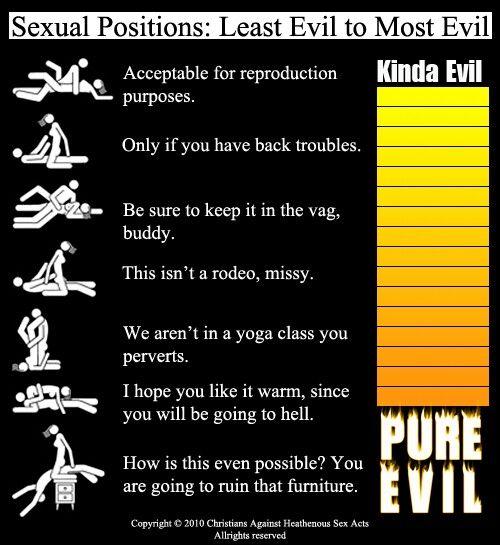 Positions. Kinda evil to pure evil. Lol