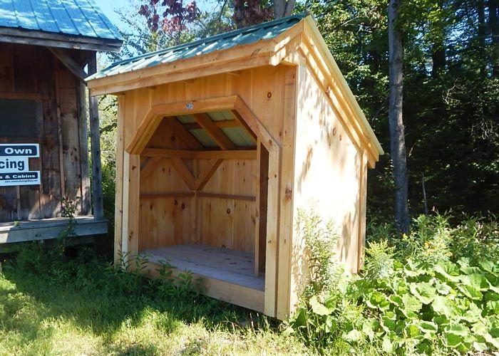 4 8 Woodbin Holds 1 Cord Of Firewood Kits 1 Person 15 Hours Kits Ship Free In The Cont Inental Us Eastern Canada Http Jamai Wood Shed Shed Wood Post