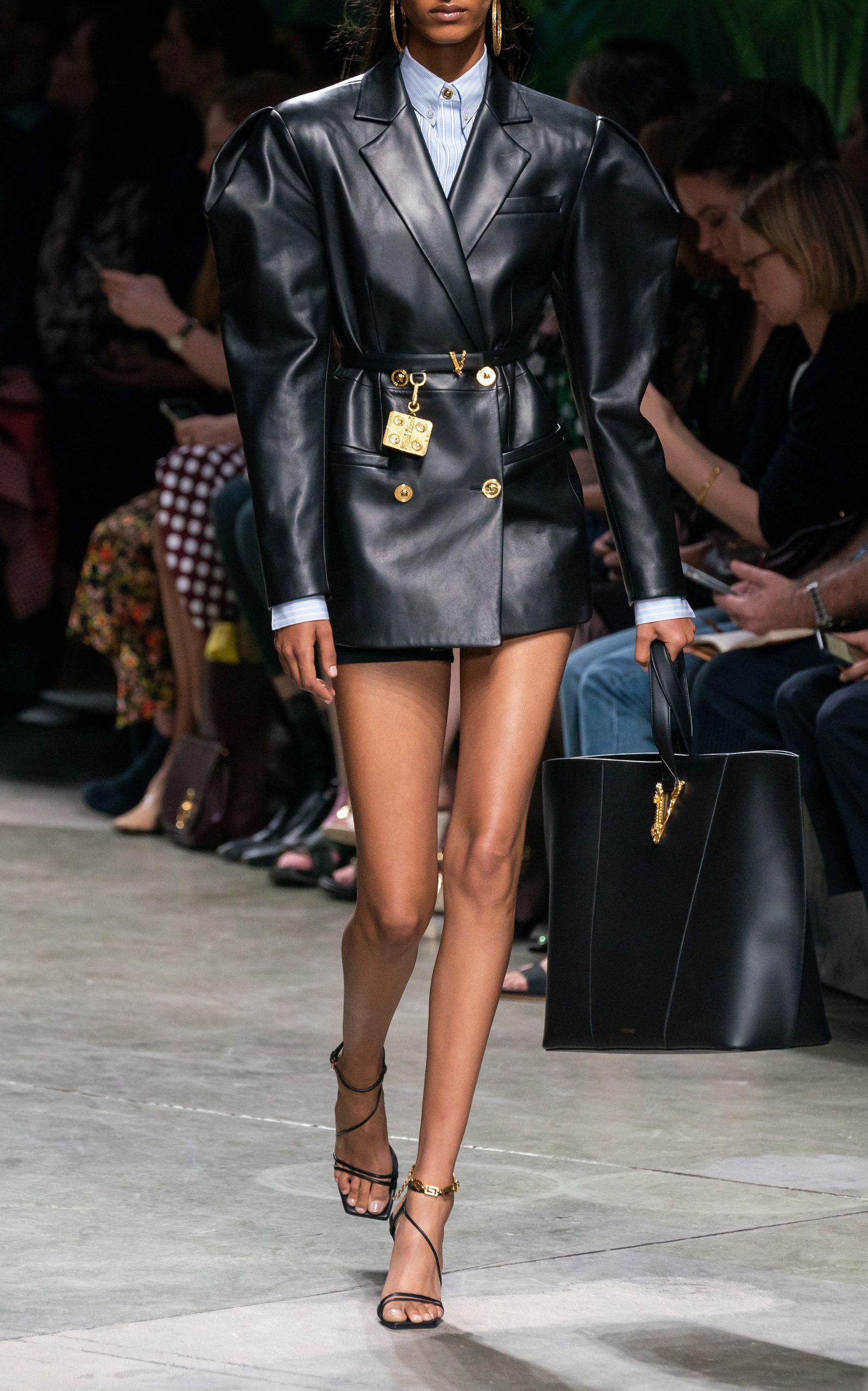 Versace Barocco V Slim Leather Belt