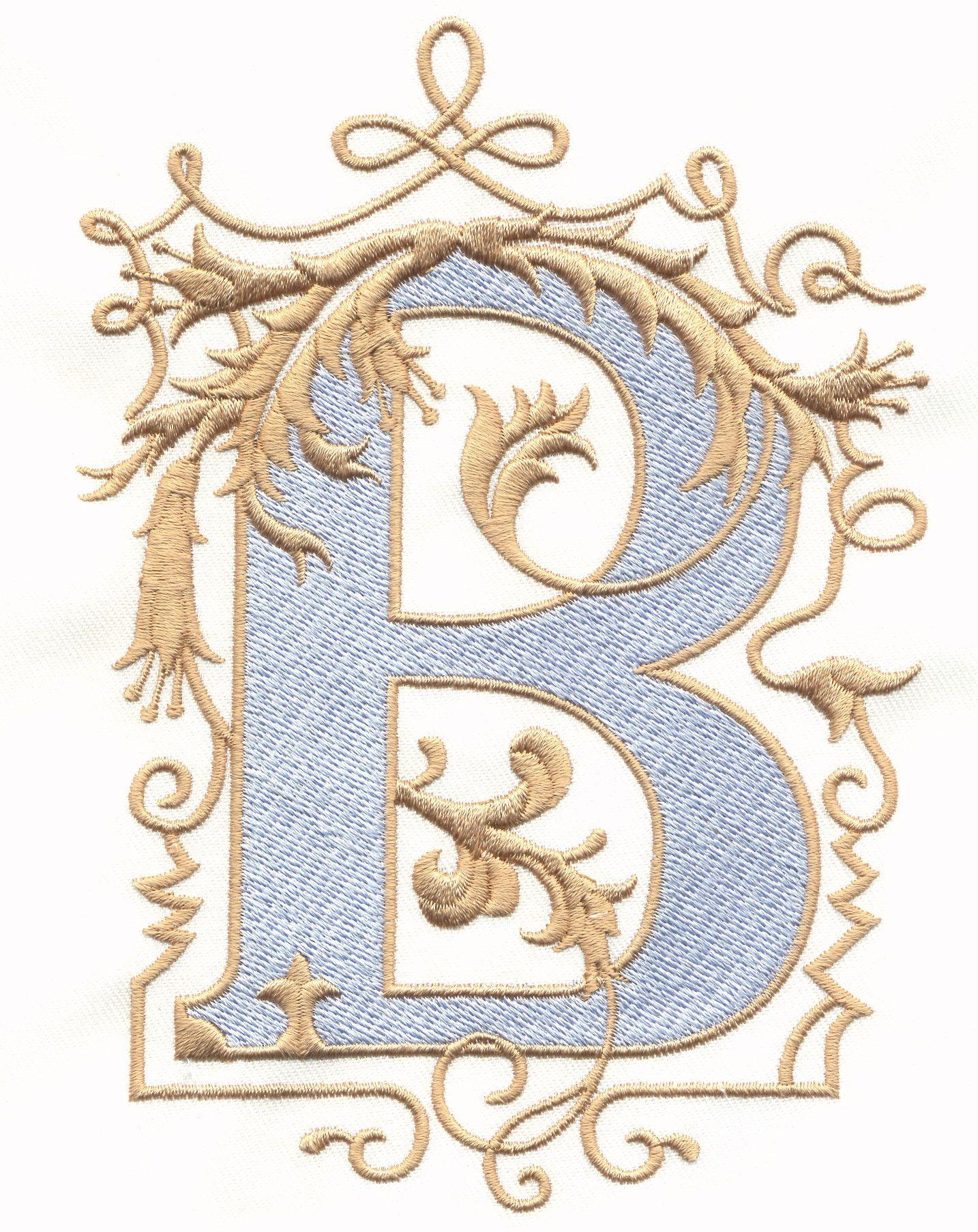Vintage royal alphabet accent designs b a z lettering