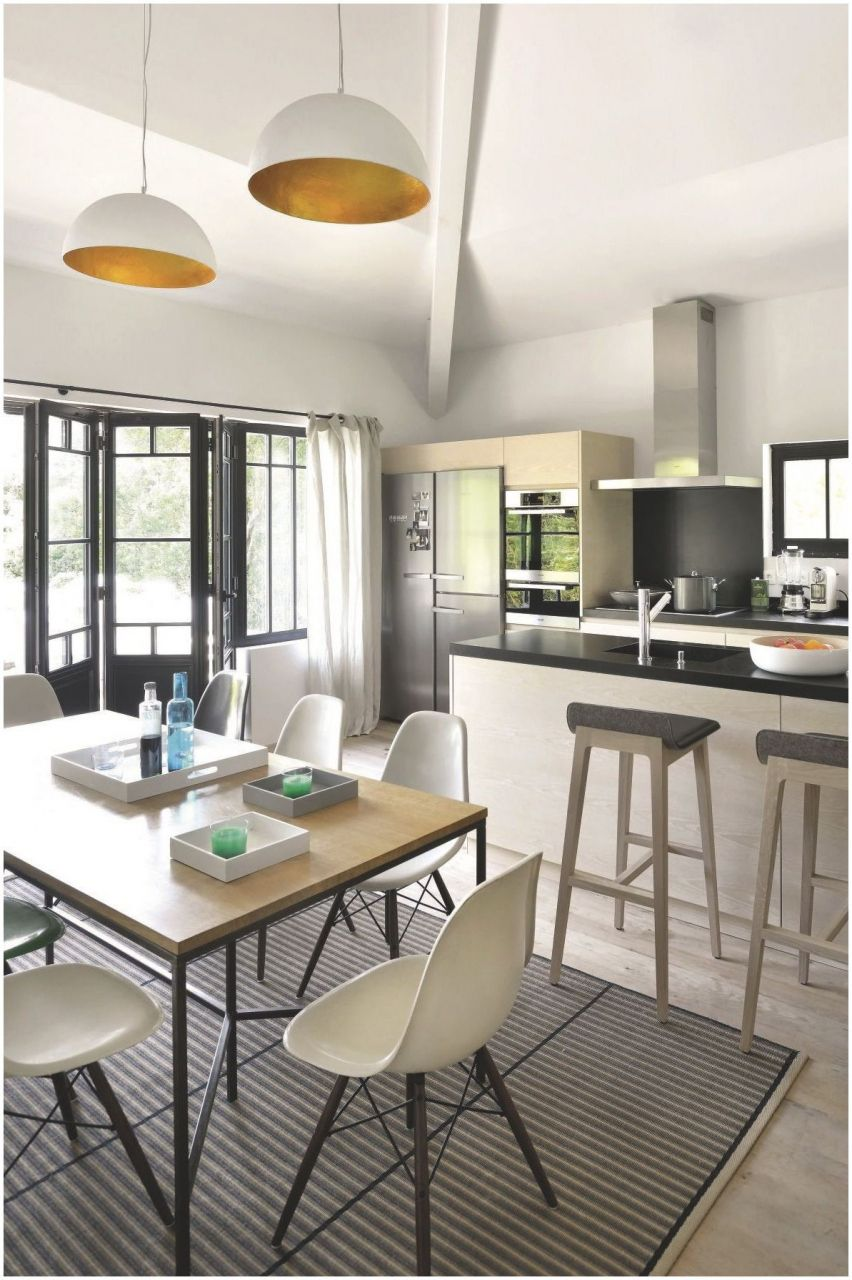 Idée aménagement salon déco mur salon cuisine bois clair petite cuisine idée