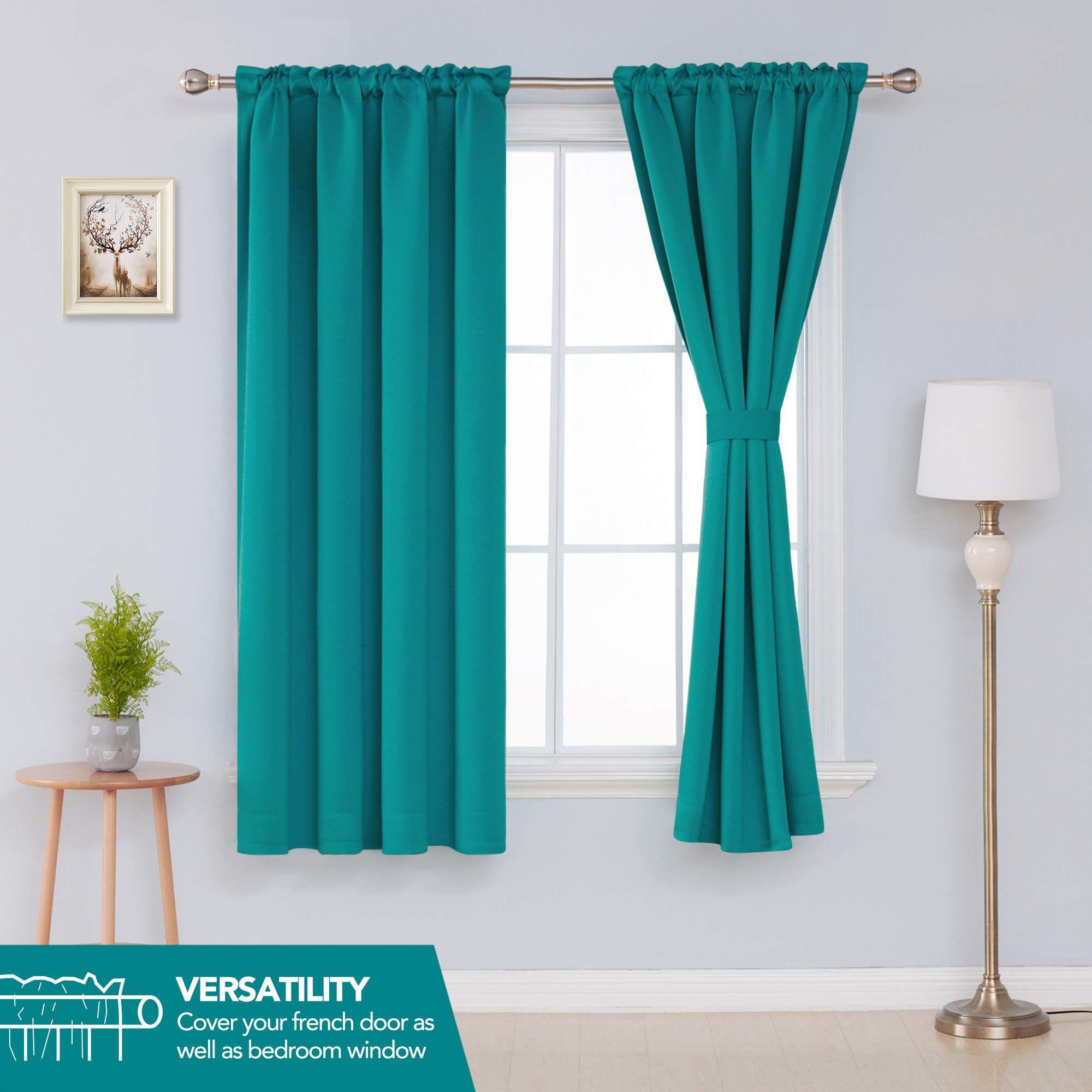 Deconovo Room Darkening Door Blackout Curtains Thermal Insulated