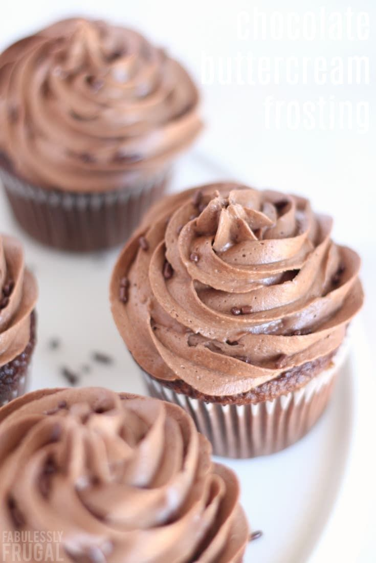 So easy and so delicious. If you're looking for a fantastic chocolate buttercream frosting recipe - look no further! #best #buttercream #frosting #recipe #easy #chocolate