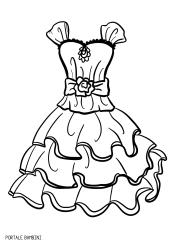Disegni Di Vestiti Da Stampare E Colorare Gratis Portale Bambini Dresses Coloringpages Coloring Disegni Disegni Da Colorare Colori