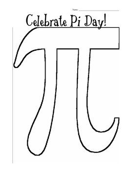 Pi Day Pi Figure Coloring Sheet Pi Day Happy Pi Day Fun