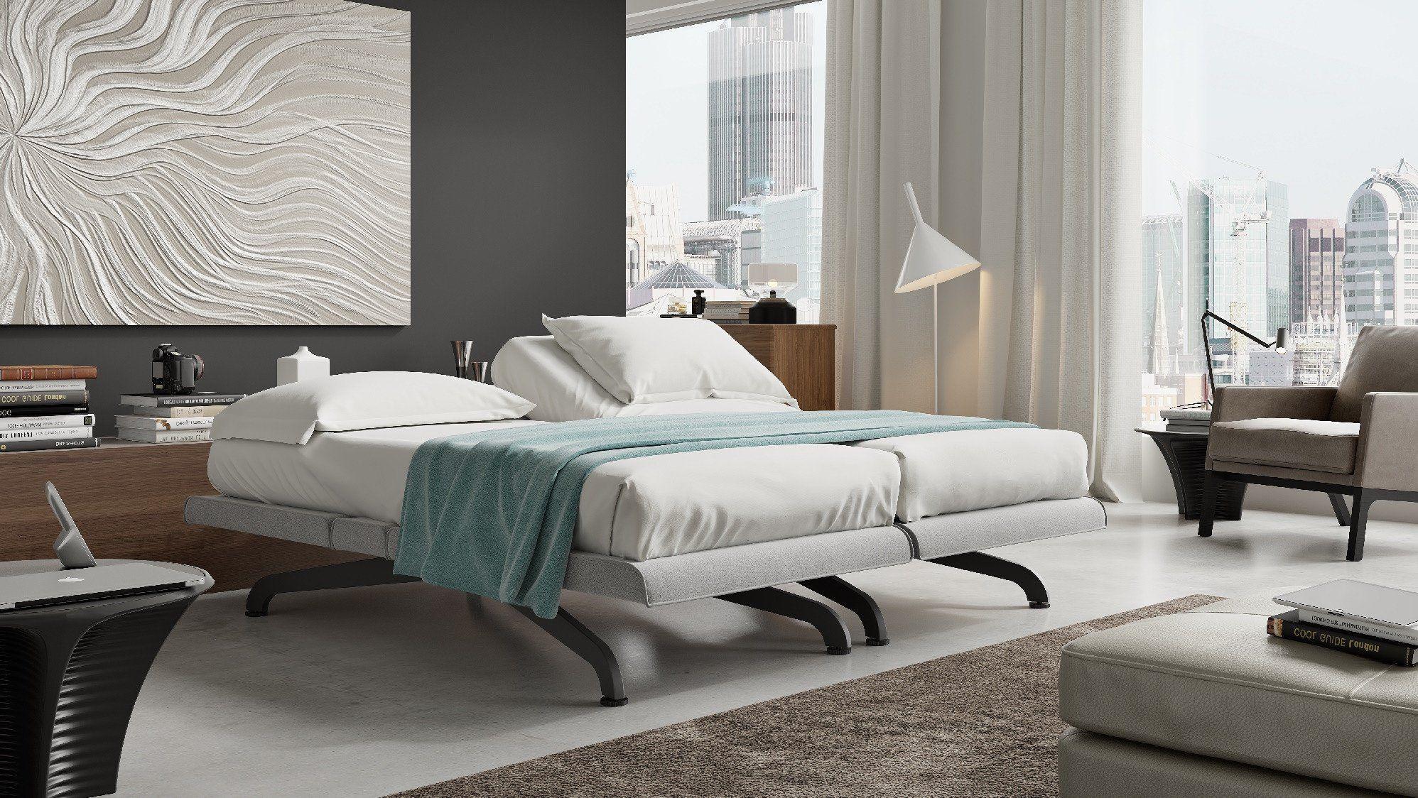 the quadro ergonomic adjustable bed by hollandia sleep
