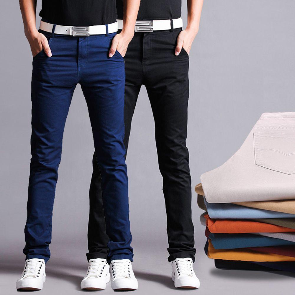 High Quality Cotton Chino Pants Straight Men Pants Slim Men Trousers