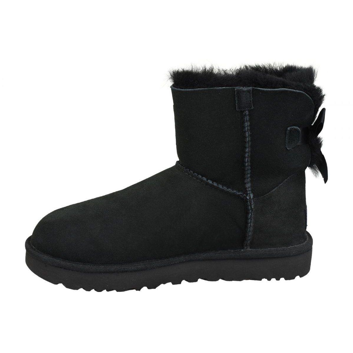 Buty Ugg Mini Bailey Bow Ii W 1016501 Blk Czarne Ugg Mini Boots Womens Boots