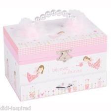 Fairy Blossom Musical Jewellery Box 4 Girls Children Kids High
