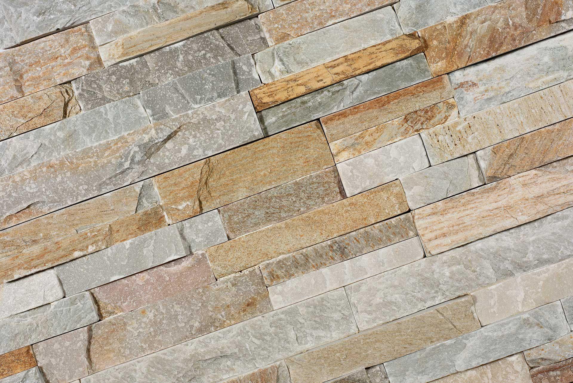 Steenstrips of natuursteen strips worden gebruikt als