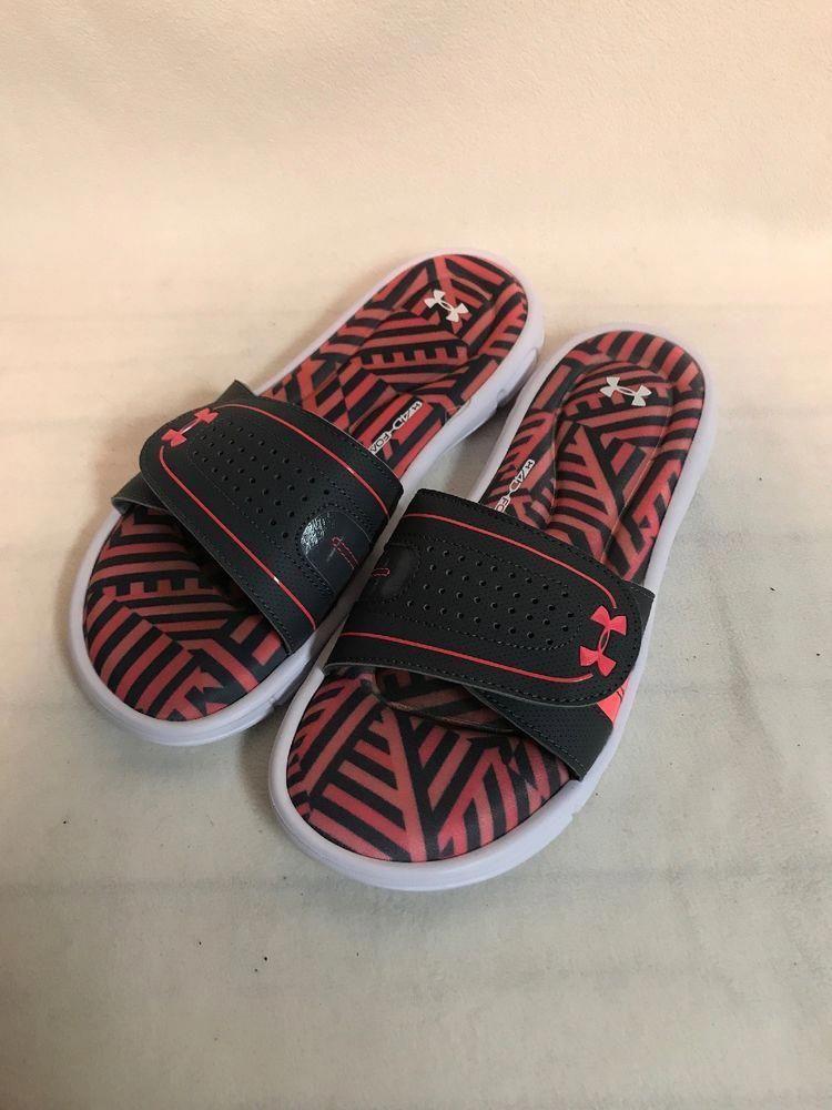 faf88f96b510 Under Armour Slides sz 9 Womens 4D Foam Gray Pink Sport Sandals  fashion   clothing  shoes  accessories  womensshoes  sandals (ebay link)   10.5WWomensshoes