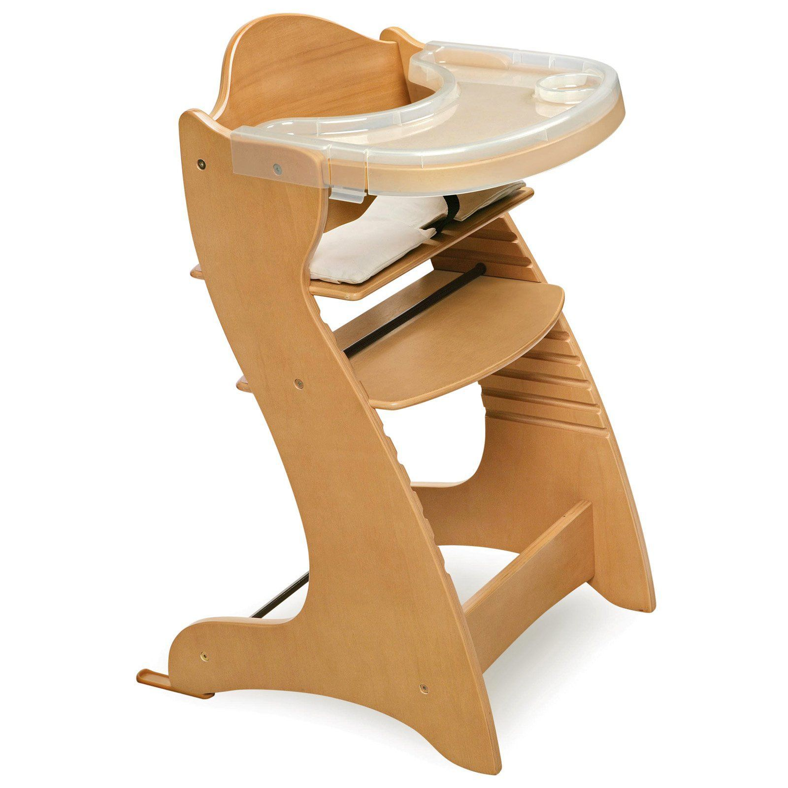 Badger basket embassy adjustable wood high chair with tray