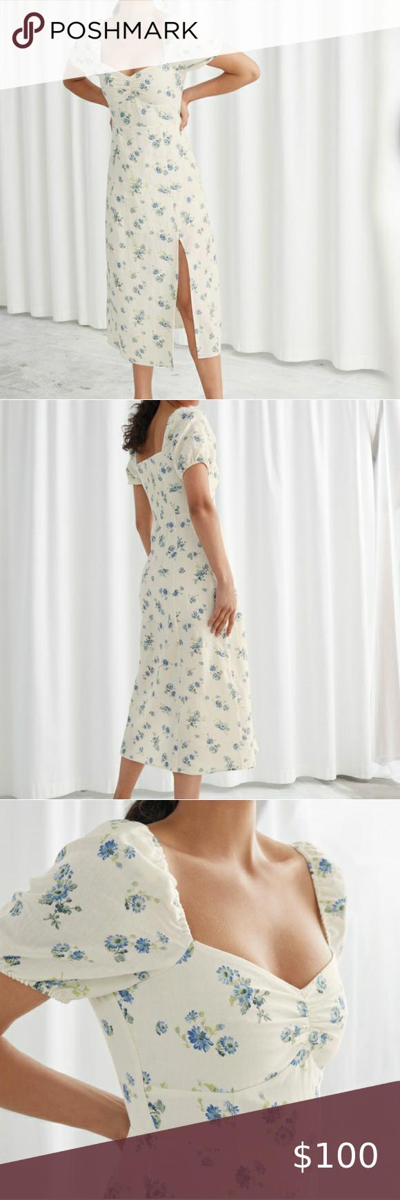 Brand New Puff Sleeve Linen Midi Dress Linen Midi Dress Puff Sleeve Midi Dress [ 1740 x 580 Pixel ]