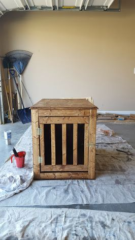 Ana White Dog Crate End Table Diy Projects Dog Crate Table