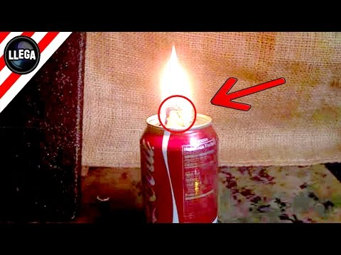 Impresionante Truco Para Hacer Una Lámpara De Aceite Con Una Lata De Refresco Youtube Lampara De Aceite Latas De Refresco Como Hacer Antorchas